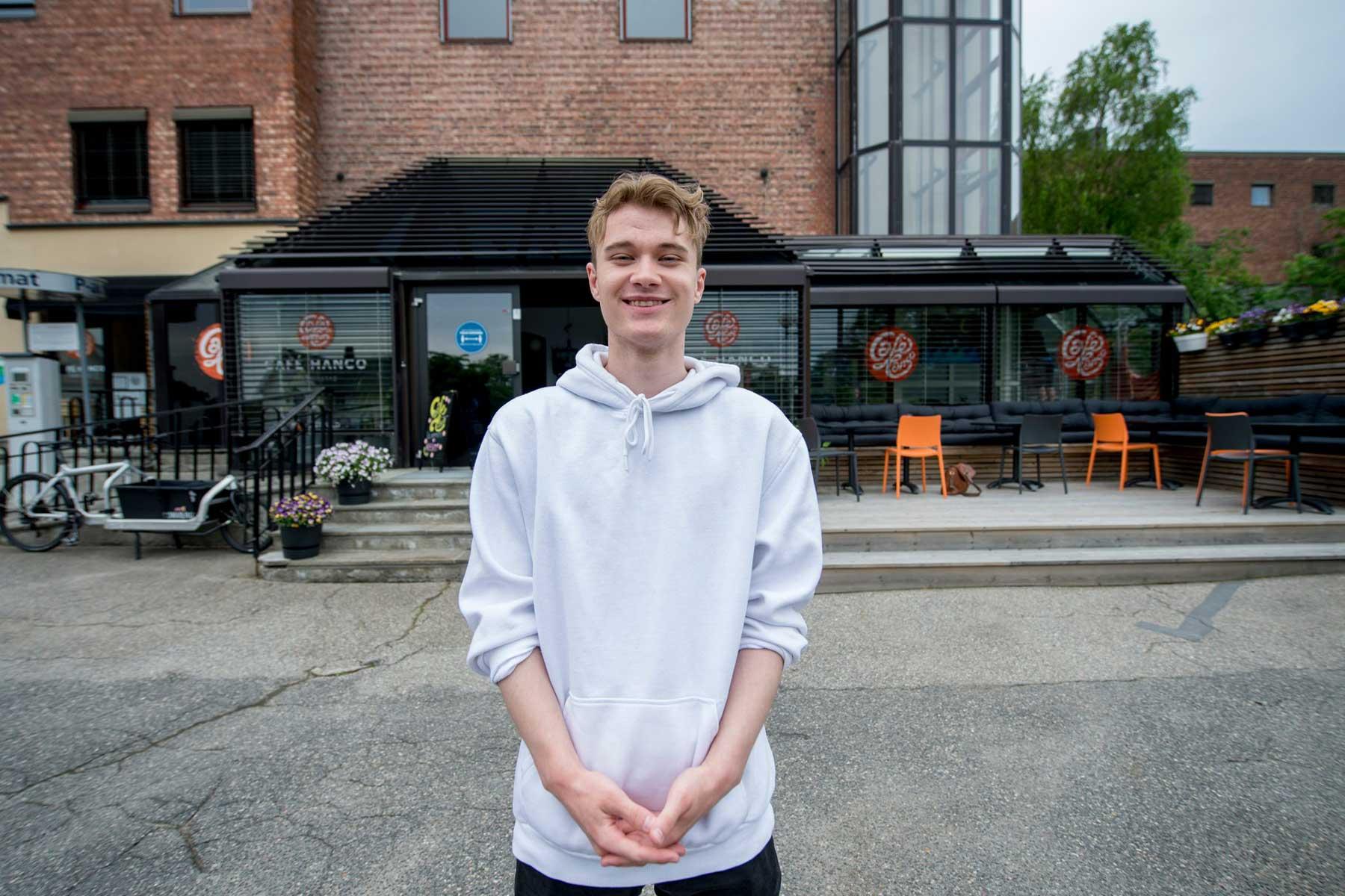 Andreas Tusvik i Fredrikstad Blad juni 2021